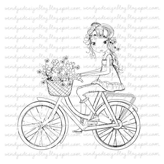 Bicicleta de niña en un
