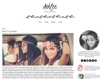 Blogger Template - Black and White Blogger Template - Responsive Blogger Template - Instant Download - Ashlee