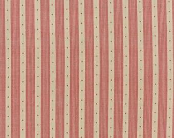 Petite Woven Silky Cotton Stripe Rouge - 1/2yd