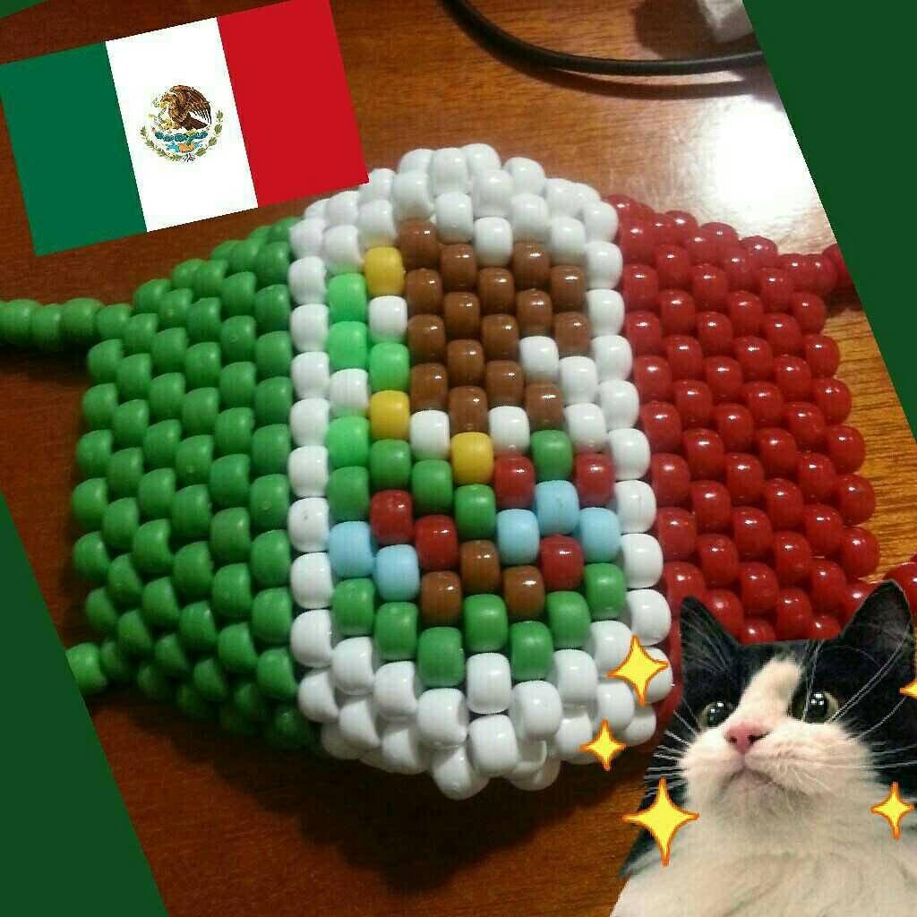 mexico flag kandi mask