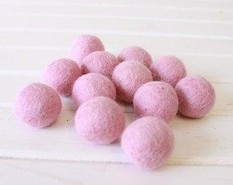 Light Pink Felt Balls 12 count