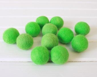 Lime Felt Balls 12 count