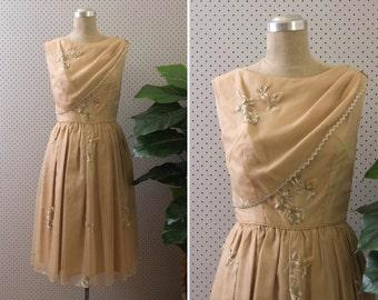 walking dream dress  //  vintage 1950s party dress