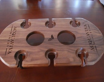 Custom wine serving tray.