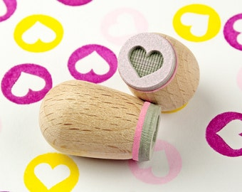 Heart 1.4 cm mini punch pink (dark) - Ø