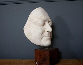 Victorian Plaster Of Paris Death Mask.