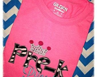 PreK Princess Applique Shirt