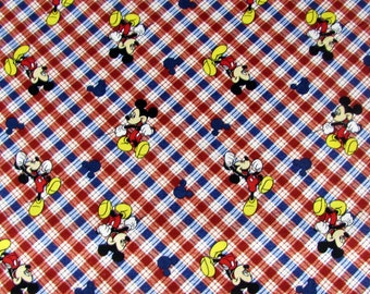 Disney Mickey Mouse Plaid Fabric From Springs Creative