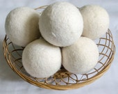 "200pcs 3"" High Quality Handmade Natural Wool Felt Dryer Balls for Softening Laundry 100% Eco-friendly Saving Water Electricity and Money"