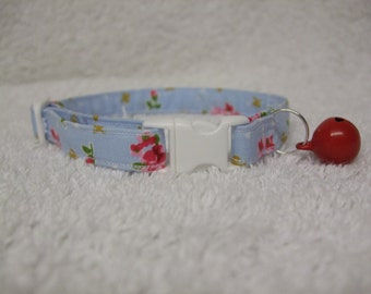 Cath Kidston Design / Ditsy Country Roses Cat Collar with breakaway buckle and bell