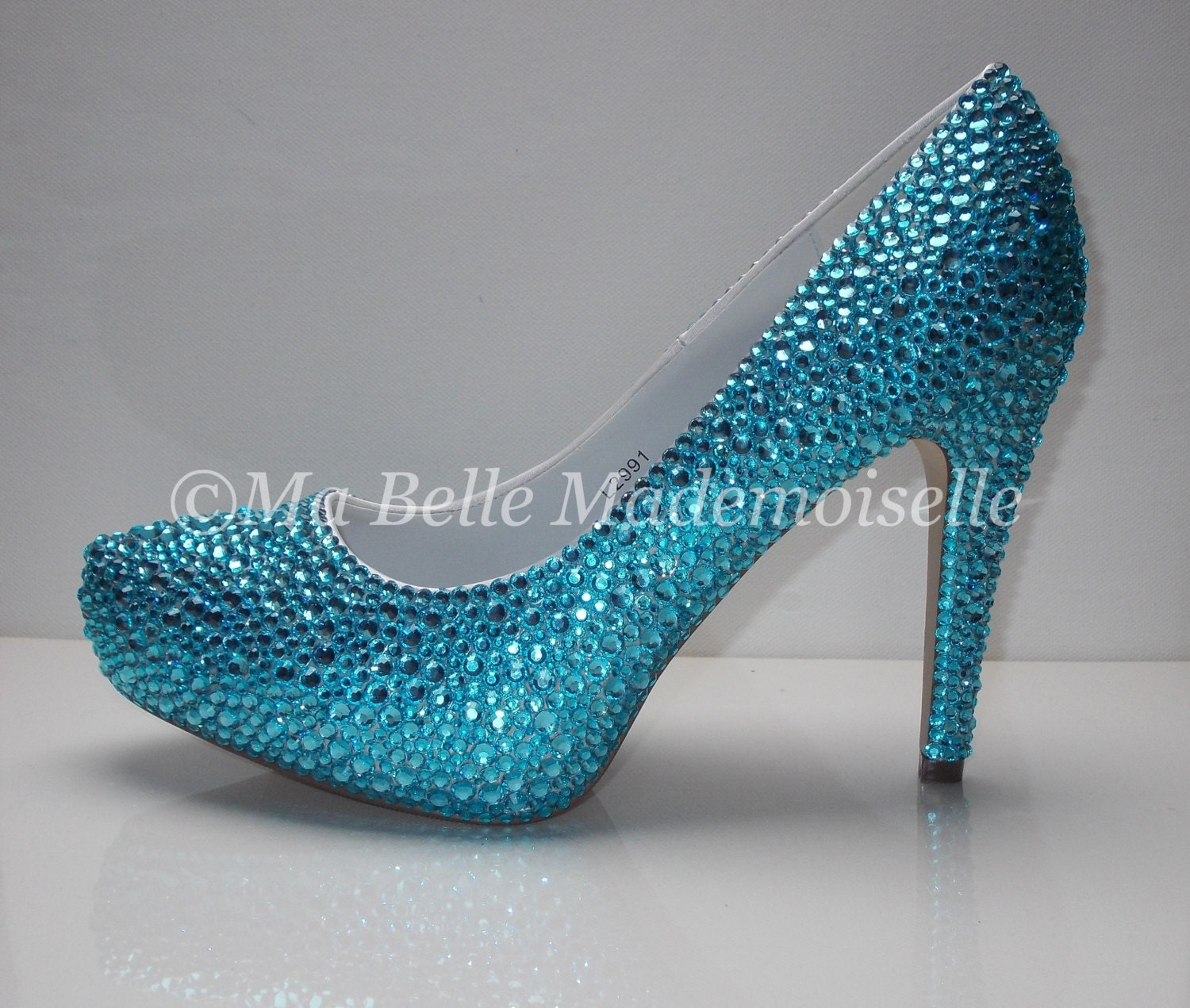 Something Blue Crystal Shoes Rhinestone Shoes Bridal Shoes
