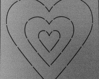 Stencil - Sweetheart - Edyta Sitar - Laundry Basket Quilts - Moda - LBQ-0447-T