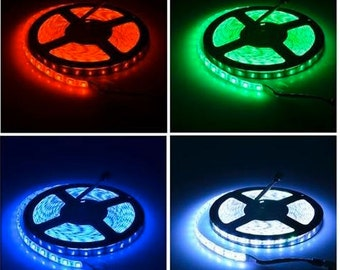 300 LED strip 16.4 feet long with RGB color changing and 44 channel remote (change colors) -Non waterproof with 5050 chips