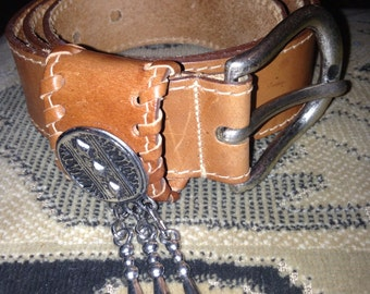 Genuine leather belt - buckle made in ITALY