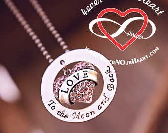 Crystal Love To the Moon and Back Necklace
