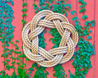 Nautical Turks Head Sailor Knot Wreath