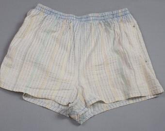 80s Bill Blass Striped Swim Trunks Shorts Mens Large 36 -39