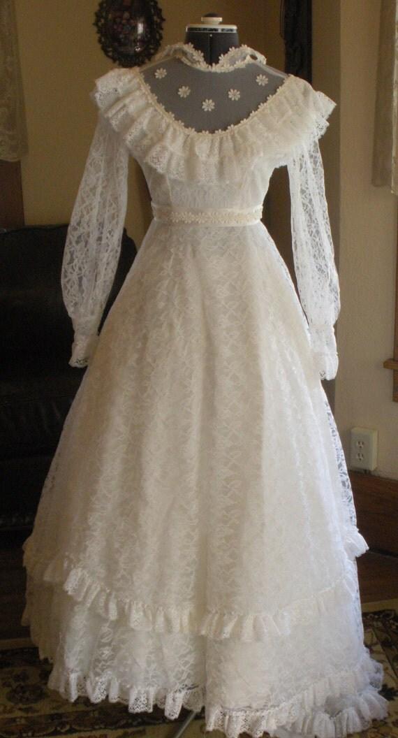 Vintage Hippie Wedding Dresses 1960s s Vintage quot Hippie quot