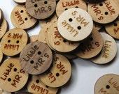 50 - 0.75 x 0.75 Custom Wood Tags - Custom Knitting Tags