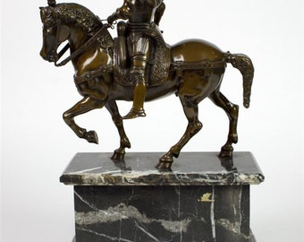 Andrea Del Verrocchio -Bronze sculpture of Bartolomeo Colleoni on Horse
