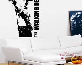The Walking Dead Wall Art - Vinyl Wall Art Sticker Decal - Living Room, Bedroom, Hall, Rick