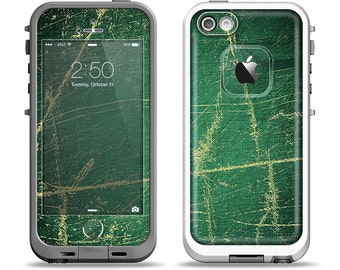 The Grungy Green Surface Design Apple iPhone LifeProof Case Skin Set