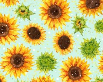 Watercolour Sunflowers Pattern // Square Greetings Card
