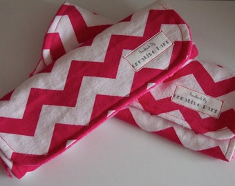 Set of 2 Baby Chevron Burp Cloths