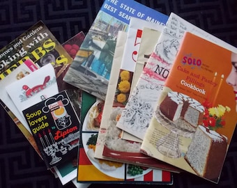 Lot of 14 Vintage Retro Recipe Booklets and Pamphlets, 1960s