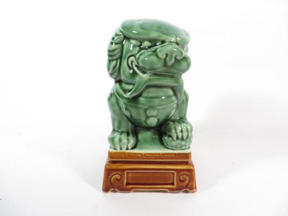 Vintage Green Ceramic Foo Dog Green Foo Dog By