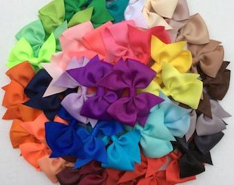 "10%Off/ 10 Hair bow/ 3 1/2"" Bows/ Hairbows/ Pinwheel bow/ Newborn hair bow/ Baby hair bow/ Toddler hair bow/ Birthday bow/ Pigtail hair bow"