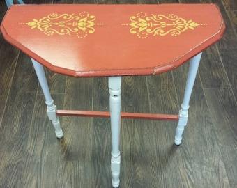 Orange occassional table