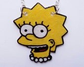 Lisa Simpson Shrinky Dink Necklace