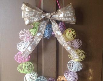 String Easter Egg Wreath