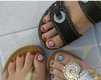 Monogram Toenail Decals