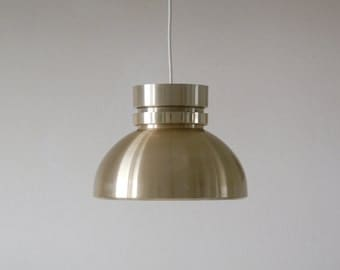 Danish hanging lamp, 70's, modern design, copper coated