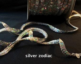 silver zodiac (hologram) sequin trim--non-stretch and stretch