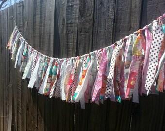 Clearance: Cat Themed Fabric Garland - 4 feet
