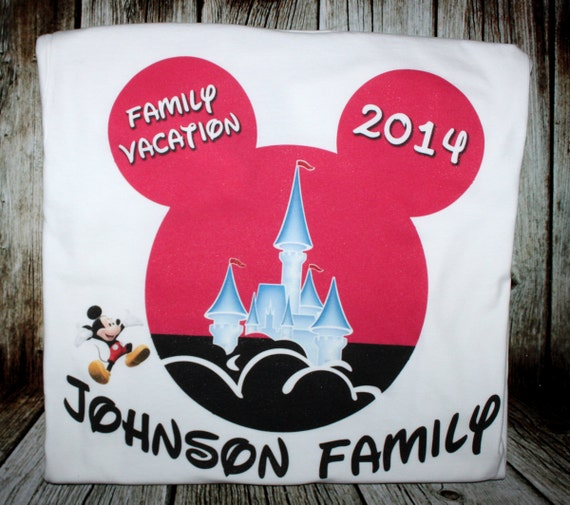Personalized Disney Vacation Tshirts 6 PACK - Walt Disney World Vacation shirts tees t