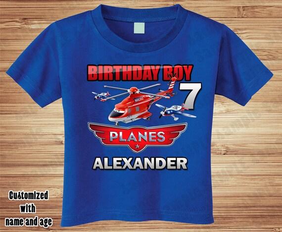 Planes Birthday T Shirt - Personalized Custom -  Disney, dusty, chug, dottie, airplane