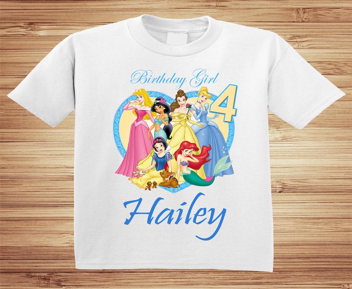 Personalized Disney Princess Birthday Shirts