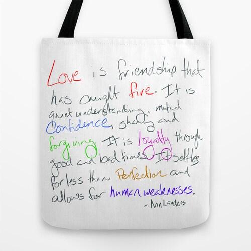 Beutel Freundschaft Zitat von Ann Landers Housewarming