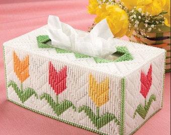 SPRINGTIME TULIPS Regular Size Tissue Box Cover