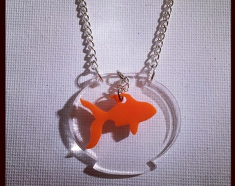 Goldfish in a Bowl Necklace
