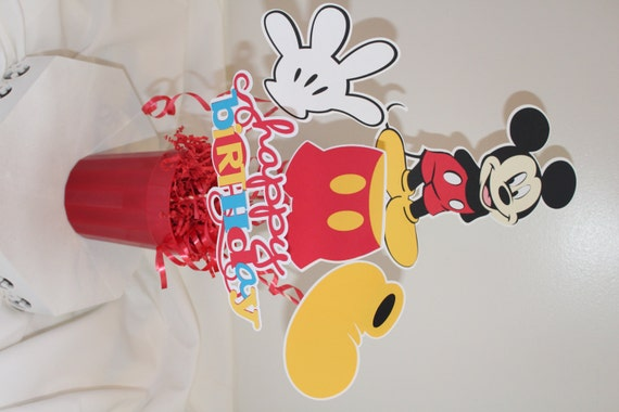 Mickey Mouse Flower Centerpiece : Mickey mouse centerpiece by favorsandmemories on etsy