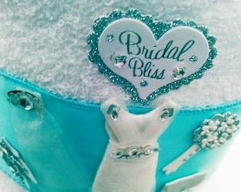 Bridesmaid Bridal Shower Towel Cake, Bridesmaid Gift, Bridesmaid Wedding Towel Cake Gift, Bridal Party Towel Cakes