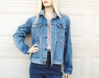 Vintage 60's-70's Maverick Denim Jacket, Sz Small
