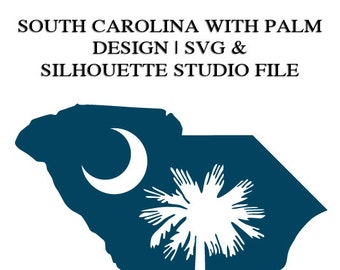 Palmetto South Carolina File for Cutting Machines | SVG and Silhouette Studio (DXF)
