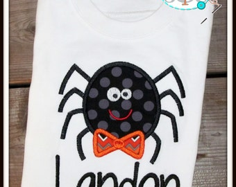 Personalized Halloween Spider Shirt/Bodysuit