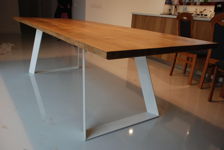 Solid Oak Dining Table Handmade Modern Design